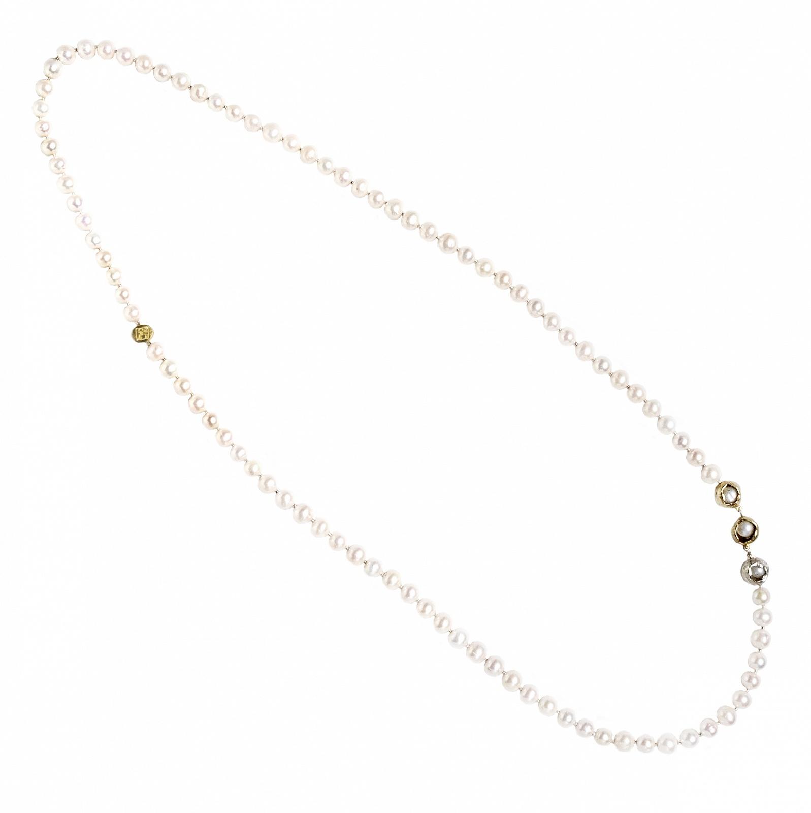 Perla Che Danza Small-Silver-Bronze-Pearls