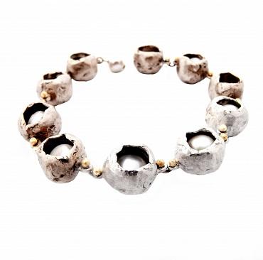 Perla Che Danza Small Silver/Bronze/Pearls