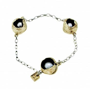 Perla Che Danza Small Chain Bronze/Pearls