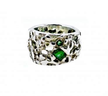 Fondali Holes Silver/Emerald