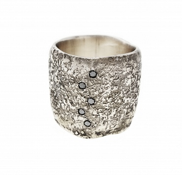 Sabbia Silver/ Black Diamonds