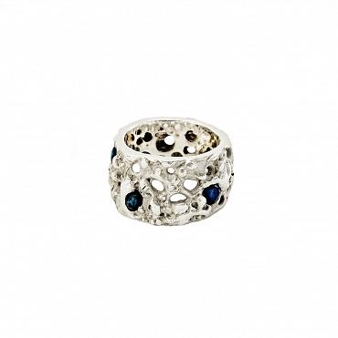 Fondali Holes Silver/Sapphire