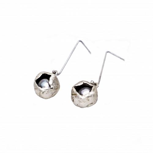 Perla Che Danza Small Silver-Pearls