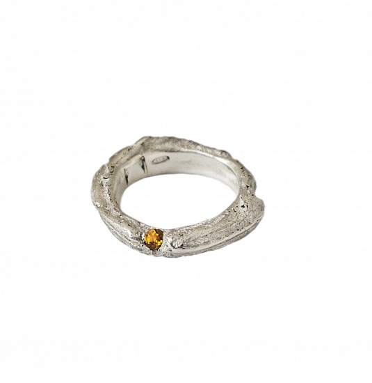 Mito Bands-B - € 175  In stock ready for shipment We currently have the ring pictured in stock in a size ITA size 15-US size 71/2 -UK size O1/2-Diameter mm.17,5 But this ring can be adjusted or ordered to size.   DETAILS  Citrine Quartz 925 Sterling Silver High Polished Finish Nickel-free Handmade Engraved with Patrizia Casamirra Jewels Logo