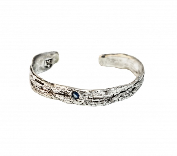 Bracelet Mito - €330   Details  Sapphire Bold 925 Sterling Silver High Polished Finish Nickel-free Handmade Engraved with Patrizia Casamirra Jewels Logo