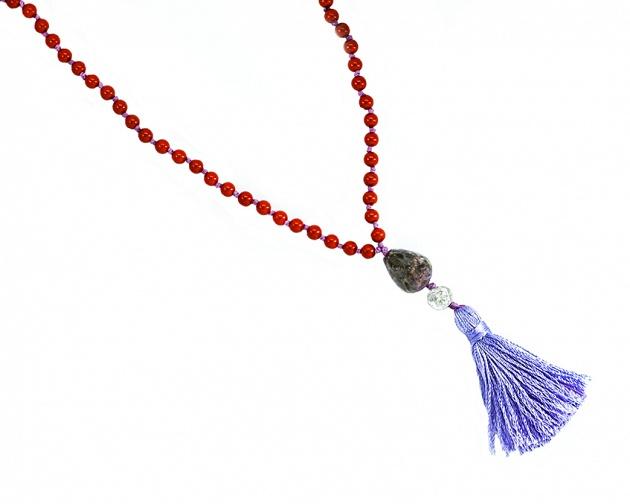 Coral -Violet Tourmaline - Silver