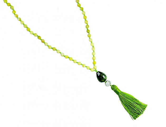 Green Agate - Green Tourmaline - Silver